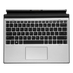 HP L67436-091 mobile device keyboard Silver Pogo Pin Norwegian