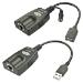 Lindy USB 2.0/RJ-45 USB 2.0/3.5 mm Black