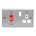 Nexus NBS70W Stainless steel socket-outlet
