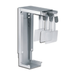 Newstar Under Desk & On-Wall PC Mount (Suitable PC Dimensions - Height: 30-53 cm / Width: 8-22 cm) - Silver