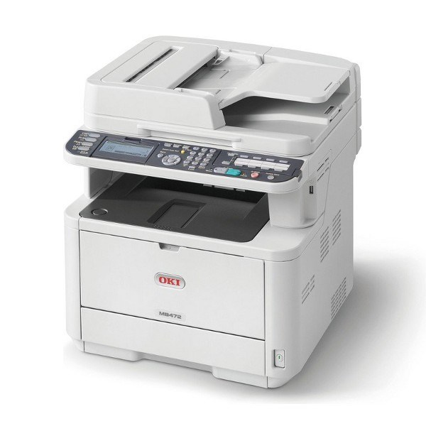 OKI MB472DNW Mono A4 Multifuntion Printer, 33ppm, Print, Scan, Copy, Fax with Duplex, Network and Wireless