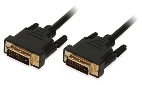 2-Power CAB0031A DVI cable 1 m DVI-D Black