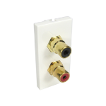 Cables Direct AV-MOD2RCA socket-outlet 2 x RCA White