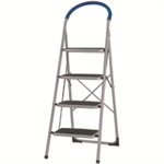 VFM 4 Tread Stepladder White 359295