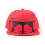 Star Wars Rise of Skywalker Red Trooper Mask Snapback Baseball Cap, Unisex, Red (SB181107STW)
