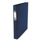 Elba Vision Ring Binder PVC Clear Front Pocket 4 O-Ring A3 Portrait Blue Ref 400009731 [Pack 2]