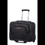 "American Tourister At Work notebook case 39.6 cm (15.6"") Briefcase Black, Orange"