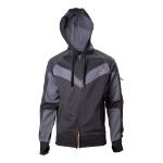 ASSASSIN'S CREED Syndicate Men's Main Logo Parkour Full Length Zipper Hoodie, Large, Black/Grey (HD240002ACS-L)