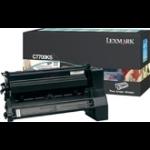 Lexmark Black Return Program Print Cartridge for C770/C772 Original