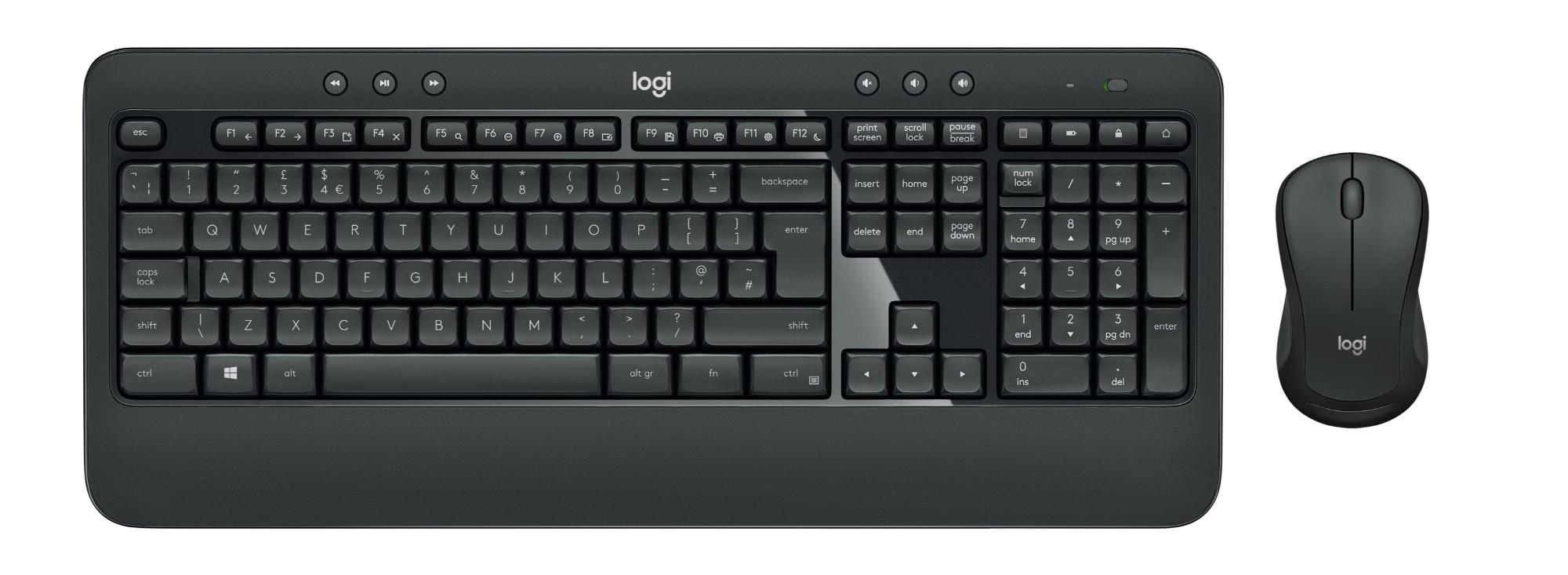 Logitech MK540 Advanced teclado RF inalámbrico QWERTZ Alemán Negro, Blanco