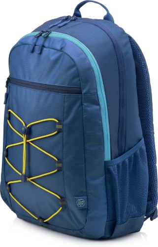 HP Active (Navy Blue/Yellow) backpack Blue, Yellow Fabric