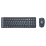 Logitech MK220 RF Wireless QWERTY Black keyboard