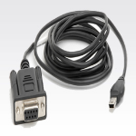 Zebra Serial Cable Black signal cable