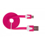Urban Factory Cable Flat USB to Micro USB - Pink 1m