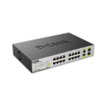 D-Link DES-1018MP Unmanaged network switch Fast Ethernet (10/100) Power over Ethernet (PoE) Black network switch