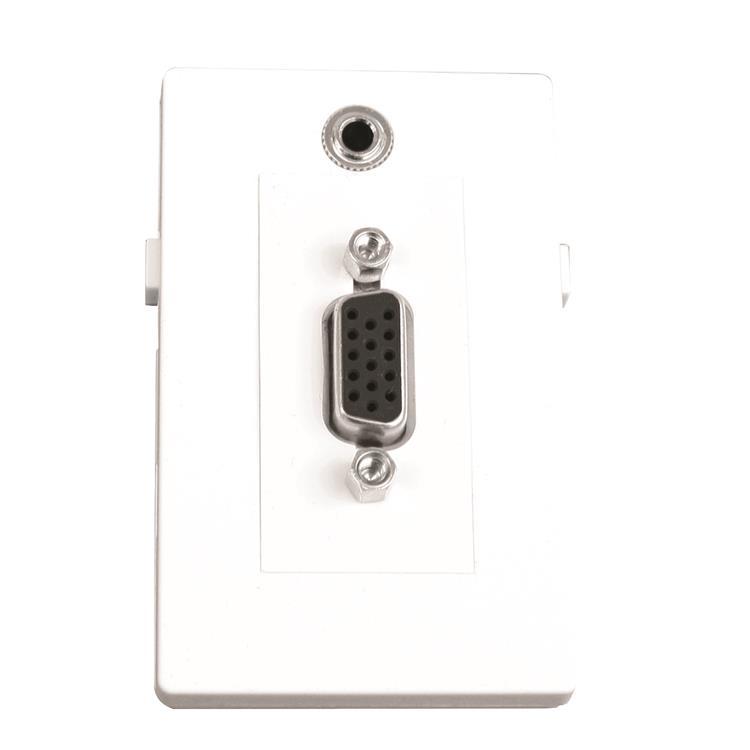 GARBOT VGA M/F+MINI JACK F/F MODULE. 20 CM. WHITE