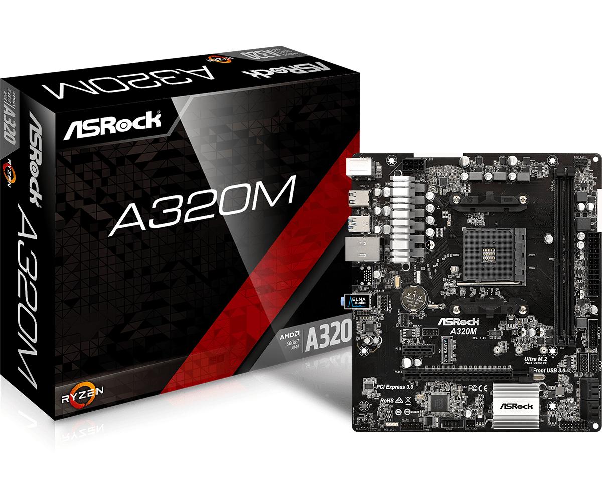 Asrock A320M AMD A320 Socket AM4 Micro ATX motherboard