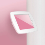Bouncepad Wallmount | Samsung Galaxy Tab E 9.6 (2015) | White | Exposed Front Camera and Home Button |