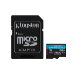 Kingston Technology Canvas Go! Plus flashgeheugen 64 GB MicroSD Klasse 10 UHS-I