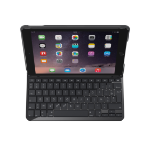 Logitech Slim Folio mobile device keyboard Black AZERTY French Bluetooth