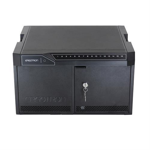 Ergotron TM DESKTOP 16 NO CABLES- Portable device management cabinet Black