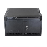 Ergotron TM DESKTOP 16 NO CABLES- Portable device management cabinet Black