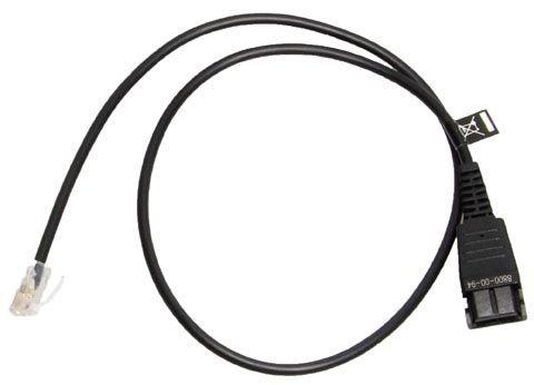 Jabra 8800-00-94 cable telefónico 0,5 m Transparente, Negro