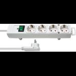 Brennenstuhl 1153120100 power extension 2 m 4 AC outlet(s) Indoor White