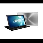 "ASUS MB168B 39.6 cm (15.6"") 1366 x 768 pixels HD Black, Silver"