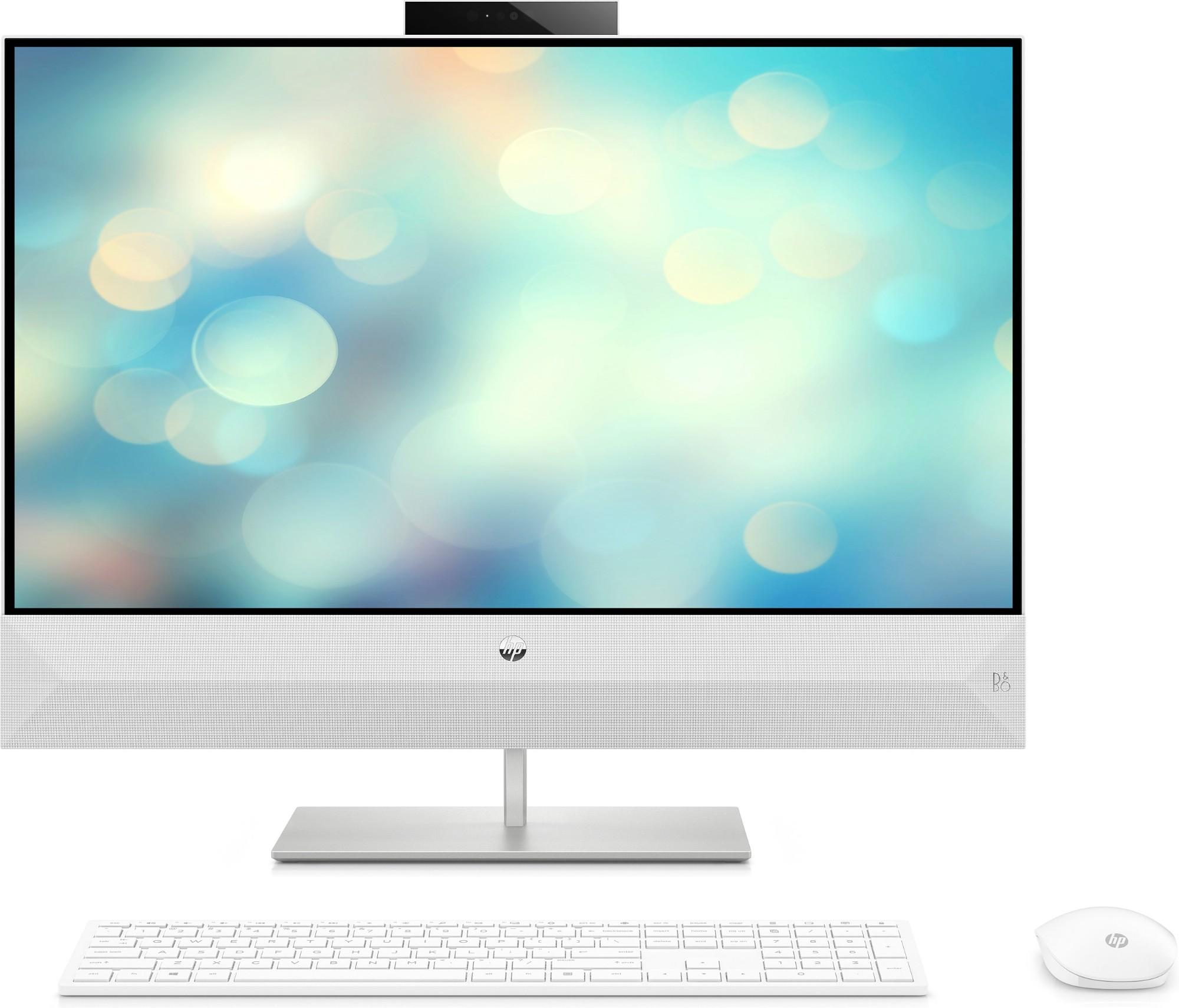 "HP Pavilion 27-xa0004na 68.6 cm (27"") 1920 x 1080 pixels 2.40 GHz 8th gen Intel® Core™ i7 i7-8700T White All-in-One PC"