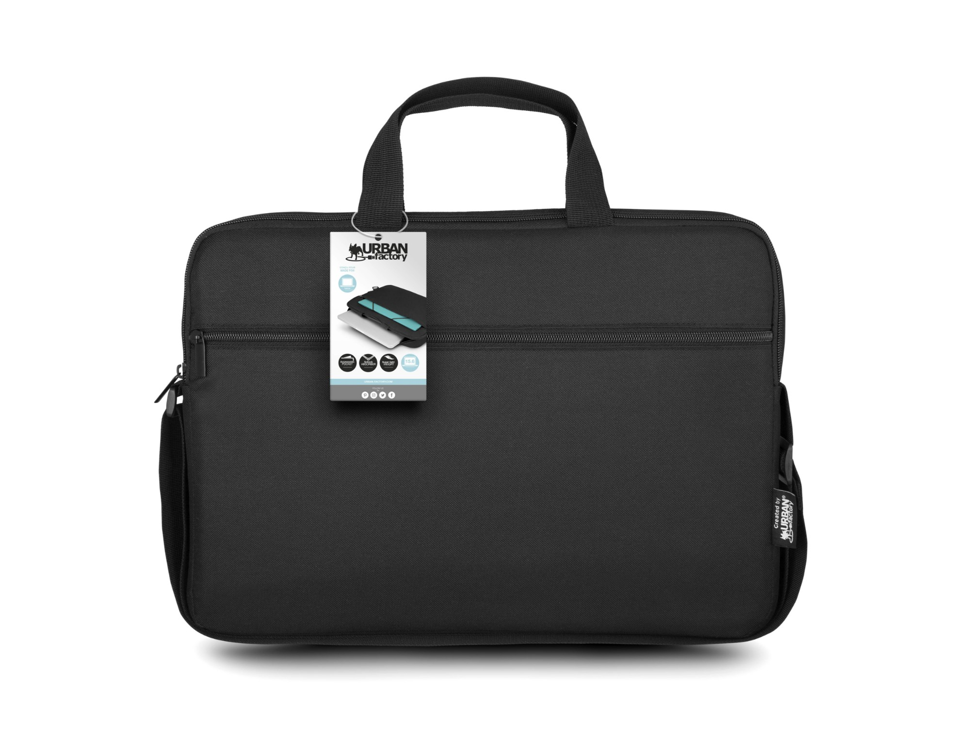 "Urban Factory Nylee maletines para portátil 30,5 cm (12"") Maletín Negro"