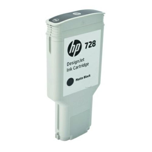 HP F9J68A (728) Ink cartridge black matt, 300ml