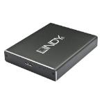Lindy 43241 storage drive enclosure M.2 SSD enclosure Black