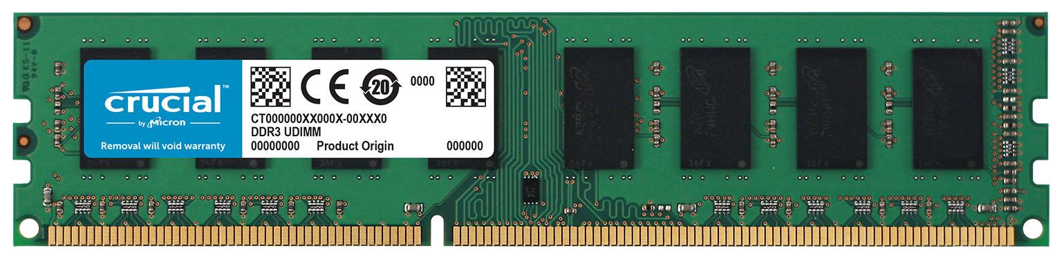 Crucial 8GB PC3-12800 módulo de memoria DDR3 1600 MHz