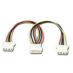 Connectland 4 Pin Power Molex Splitter Adapter 18cm Cable 1x 5.25' Male to 2x 5.25' Female HDD