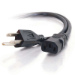 C2G 4ft Universal 16 AWG Power Cord (IEC320C13 -> NEMA 5-15P) 1.2m NEMA 5-15P Black power cable