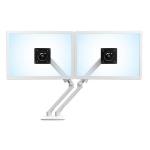 """Ergotron MX Series Desk Dual Monitor Arm 24"""" White"""