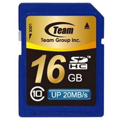 TEAM GROUP MEMORY CARD SDHC 16GB CLASS 10