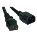 Tripp Lite Standard Computer Power Extension Cord Lead Cable, 10A, 18AWG (IEC-320-C14 to IEC-320-C13) 0.61 m (2-ft.)