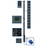 Tripp Lite 7.4kW Single-Phase Switched PDU w/LX Platform Interface, 230V Output, IEC 309 32A Blue, 3.05 m Cord, 0U
