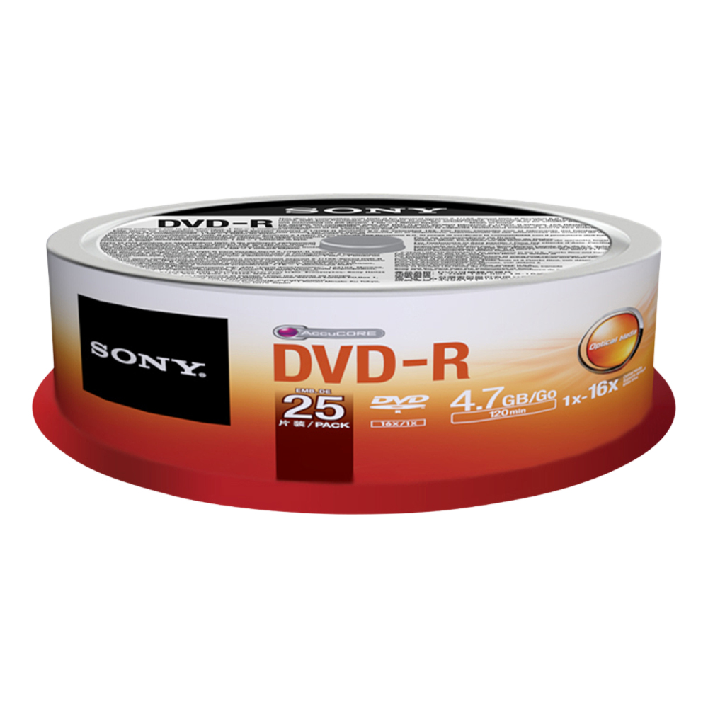 DVD-r Media 16x 25pk Spindle Bulk
