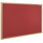 Bi-Office Earth-It Red Felt Noticebroad Oak Frame 180x120cm DD