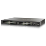 Cisco Small Business 500X Series Switch - 48-Ports + 4 SFP+ uplink ports - Gigabit - Power over Ethernet - Layer 3 - Managed - Stackable