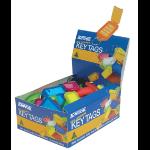KEVRON Keytags Plastic Tub Assorted ID5AC100Z (PK100)