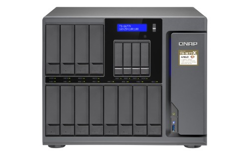 QNAP TS-1677X Ethernet LAN Tower Black NAS