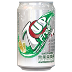 Britvic 7UP DIET 330ML CANS PK24 3389