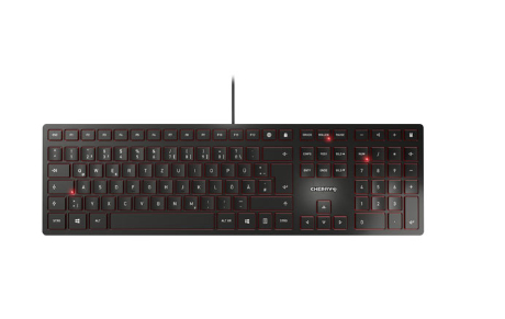 CHERRY KC 6000 Slim keyboard USB QWERTZ German Black