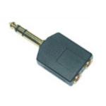 Microconnect 6.3mm/2x3.5mm M/F 6.35mm Black