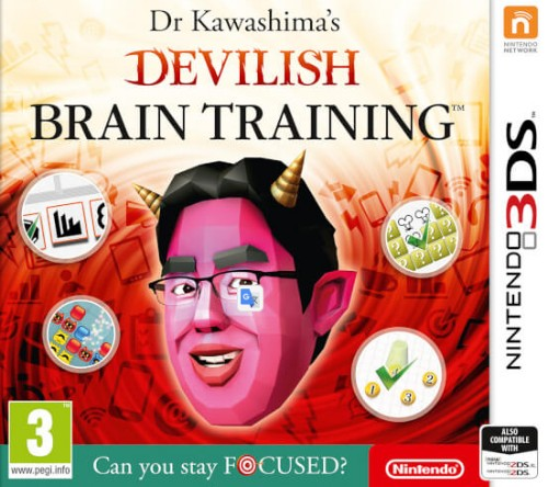 Nintendo Dr Kawashima's Devilish Brain Training: Can You Stay Focused?, 3DS Basic Nintendo 3DS
