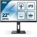 AOC 22P2Q LED display 54,6 cm (21.5 Zoll) 1920 x 1080 Pixel Full HD Schwarz